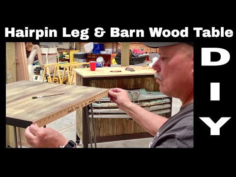 Barn Wood Side Table - DIY Hairpin Legs - Chalk Paint