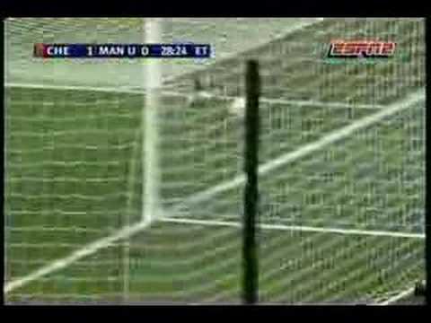 Mourinho celebrating Drogba's goal