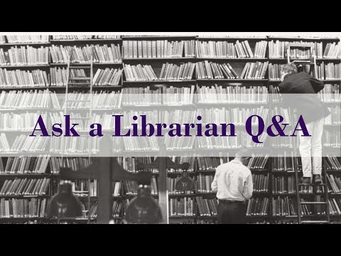 Ask A Librarian | Library Research Skills Webinar