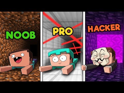 Minecraft - SECRET PRISON ESCAPE! (NOOB vs. PRO vs. HACKER)