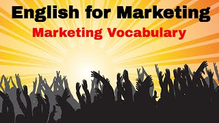 Learn Business English ESL Vocabulary - Marketing Vocabulary