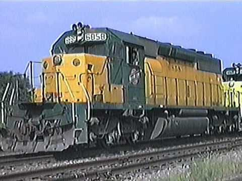 Lost (and Found) CNW footage. At the East wye in Nelson, IL 1990