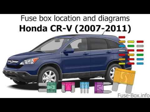 Fuse box location and diagrams Honda CR-V (2007-2011) - YouTube