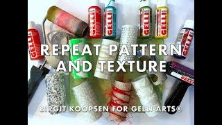 Repeat Patterns and Texture with Gelli Arts® Gel Printing Plates