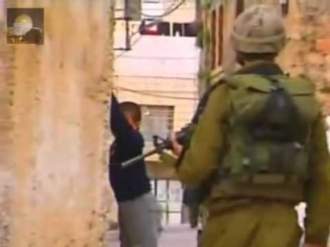 .Two Israheili soldiers abuse the 9 years Palestinian child
