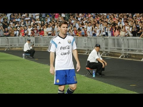 Messi! at Hong Kong vs Argentina 2014