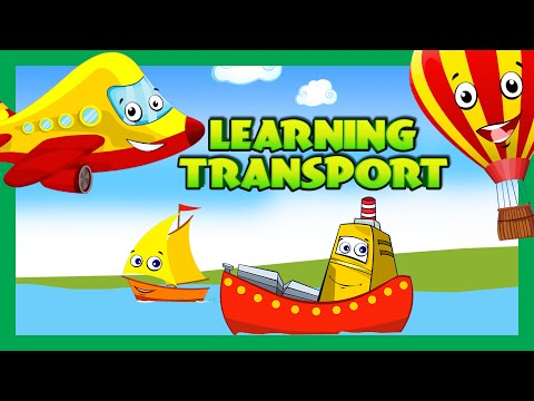 Transport Lessons - Air & Water Transport | Modes Of Transportation - Learning Videos For Children