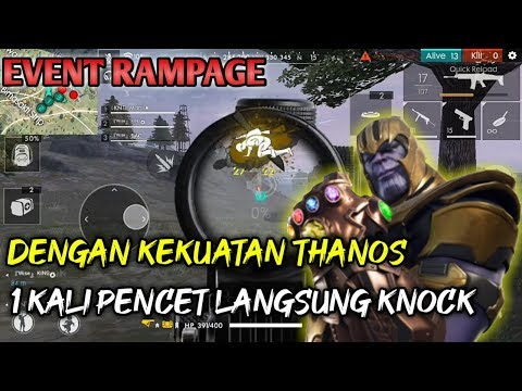 EVENT RAMPAGE, KEkUATAN THANOS - FREE FIRE INDONESIA