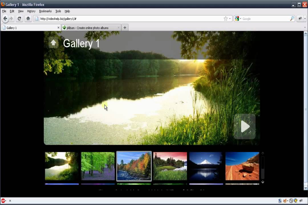 how to create a photo gallery for your web easy website youtube