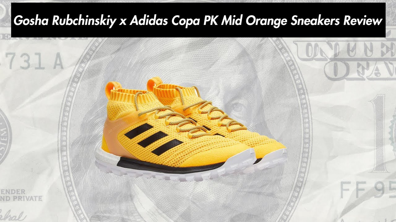 Gosha Rubchinskiy x Adidas Copa PK Mid Orange Sneakers Review - YouTube d81c82831