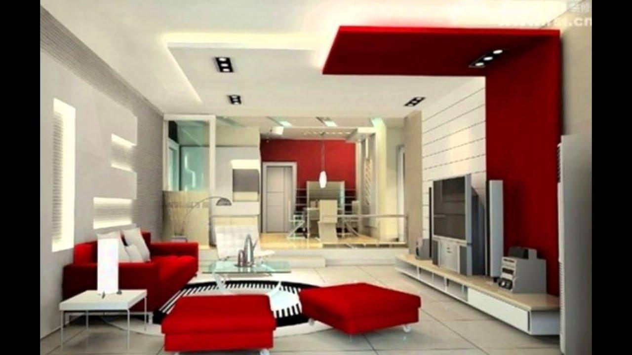 Living Room Decor With Red Sofa   Ezhandui.com