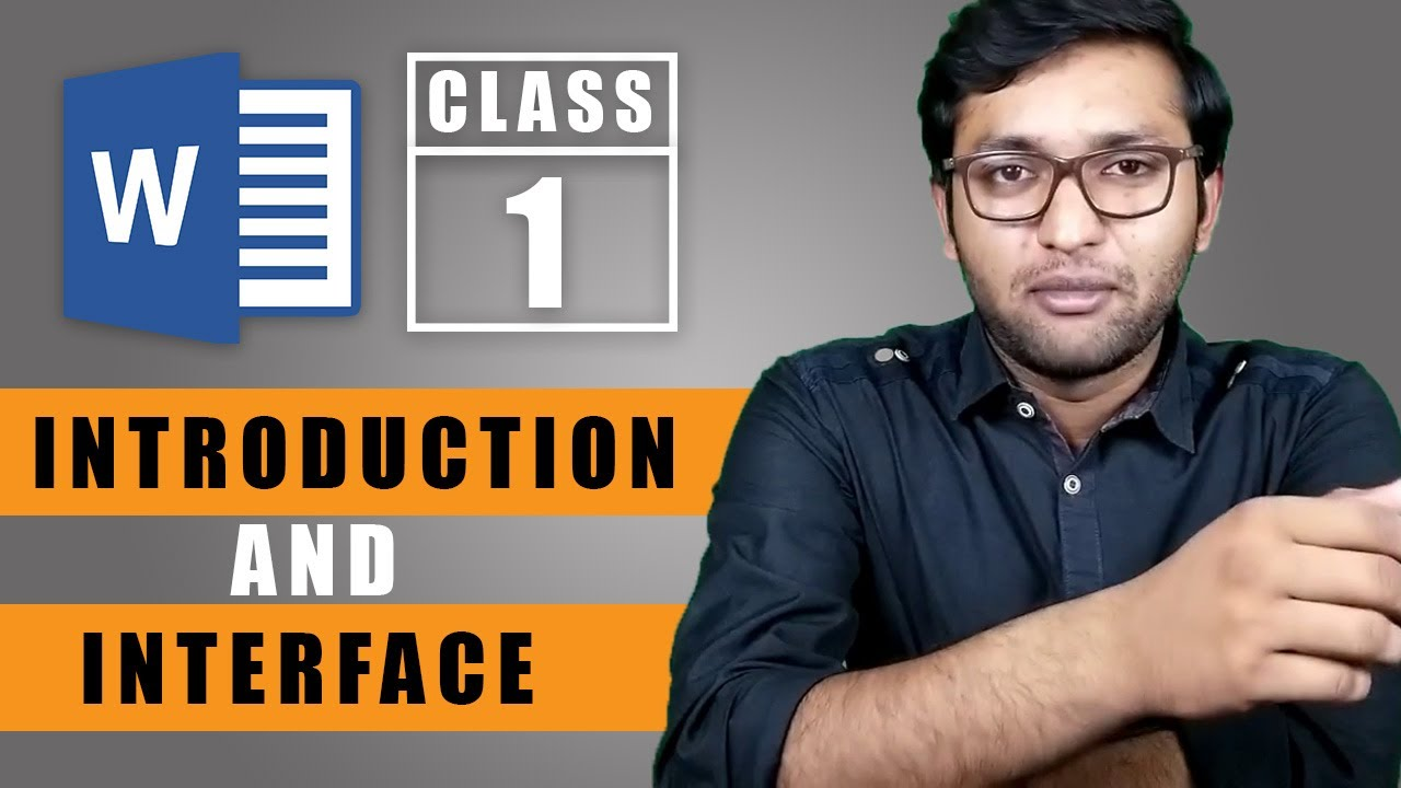 Microsoft Word Introduction and User Interface - Class 1 - Urdu / Hindi