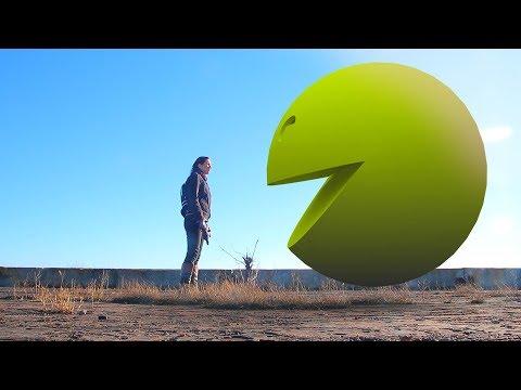 Pacman 3d in real life movie, game war and the ghostly adventures blitzwinger pac man 3d in humor