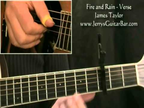 How To Play James Taylor Fire And Rain Full Lesson Youtube