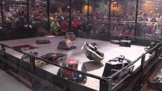 Gladiator fight - 18 robot free-for-all | Robochallenge 2015
