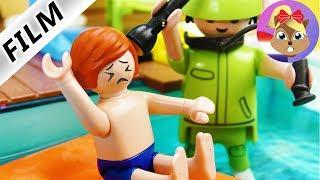 Playmobil FilmNederlands MIDDENOORONTSTEKING BIJ JULIAN VANWEGE 24h CHALLENGE IN ZWEMBAD!