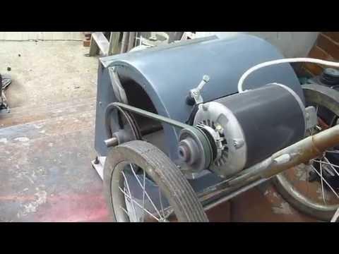 Work Fan Build Using an Old Furnace Blower
