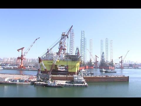 China Launches 6G Homemade Deep-sea Semi-submersible Drilling Platform