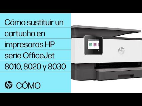 Cómo sustituir un cartucho en impresoras HP serie OfficeJet 8010, 8020 y 8030 | HP OfficeJet | HP