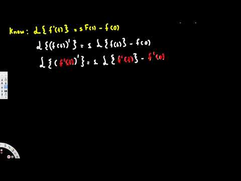 Laplace Transform of second derivative, laplace transform of f''t - Differential Equations