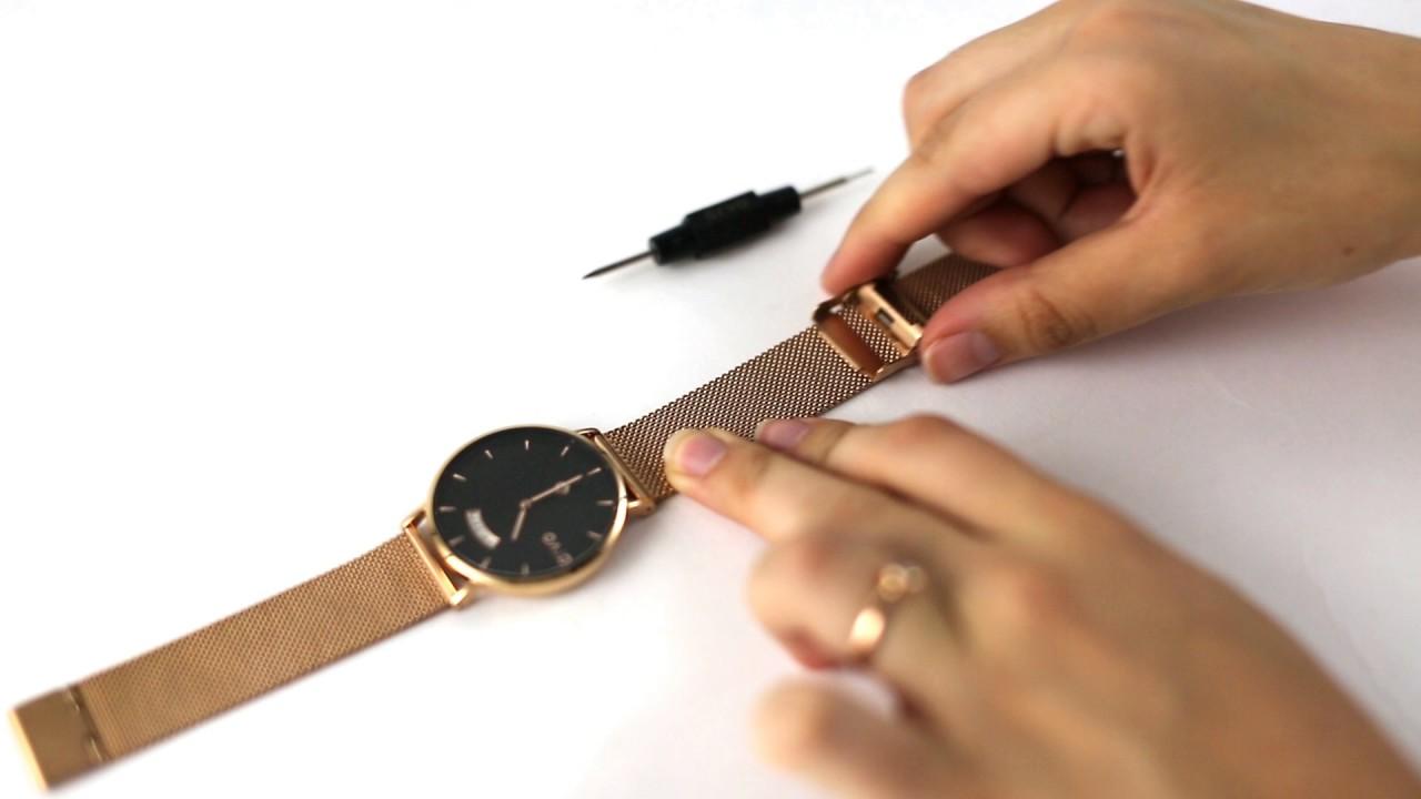 065683517de How To Adjust your Mesh Metal Watch Band - Arvo - YouTube
