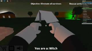 Playing with the witch on Left 4 Dead 2 in Roblox