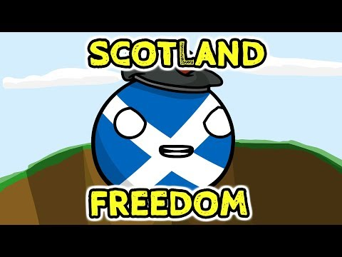 Scotland and FREEDOM - Countryballs