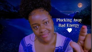 ASMR | Eating/Plucking/Flicking Away Bad Energy 💙✨ (Camera Tapping, Personal Attention)