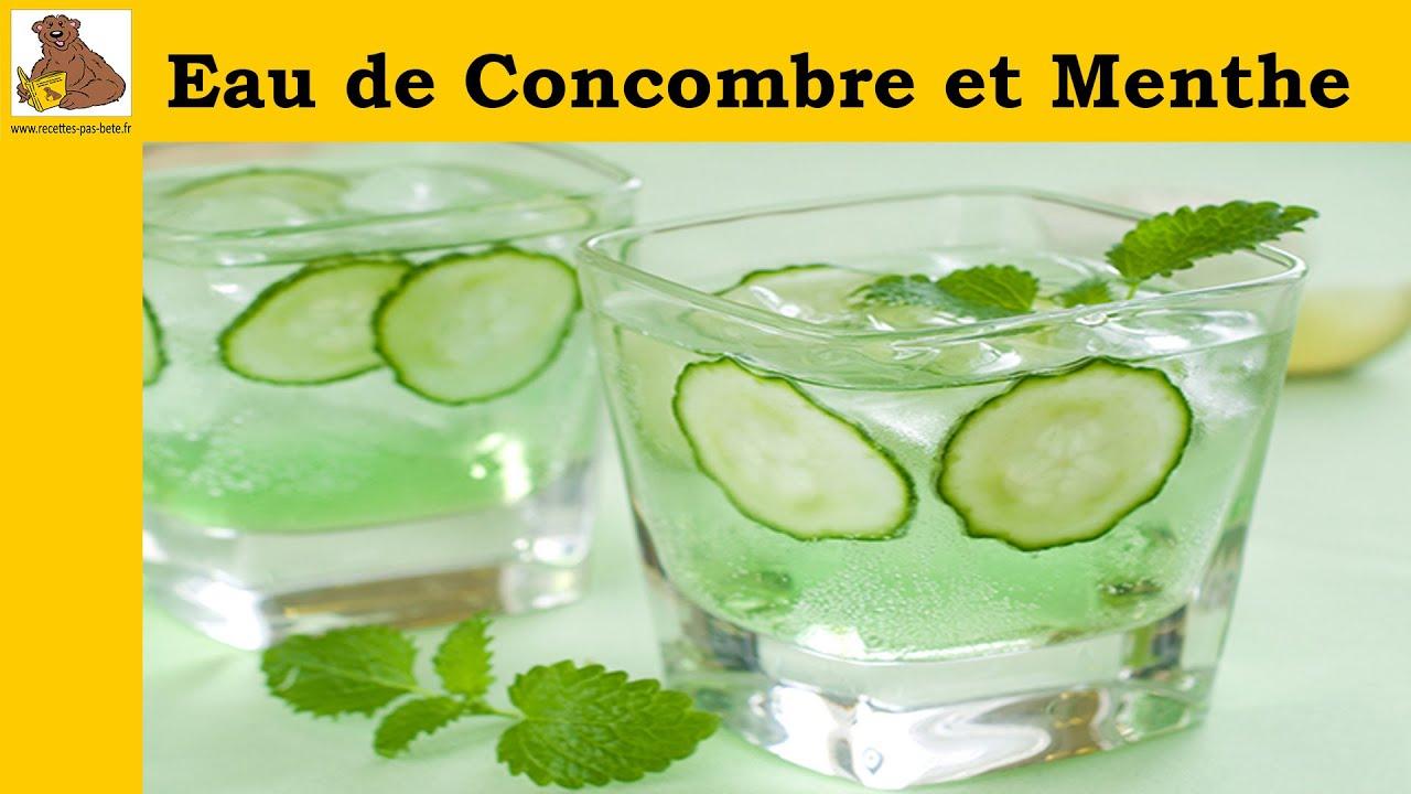Connu eau détox de concombre citron et menthe - YouTube HI73