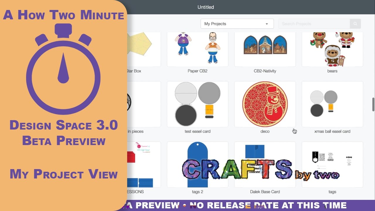 Cricut Design Space 3 Preview - My Projects View - A How To Minute