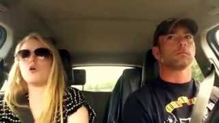 dad and daughter road trip lip sync timber