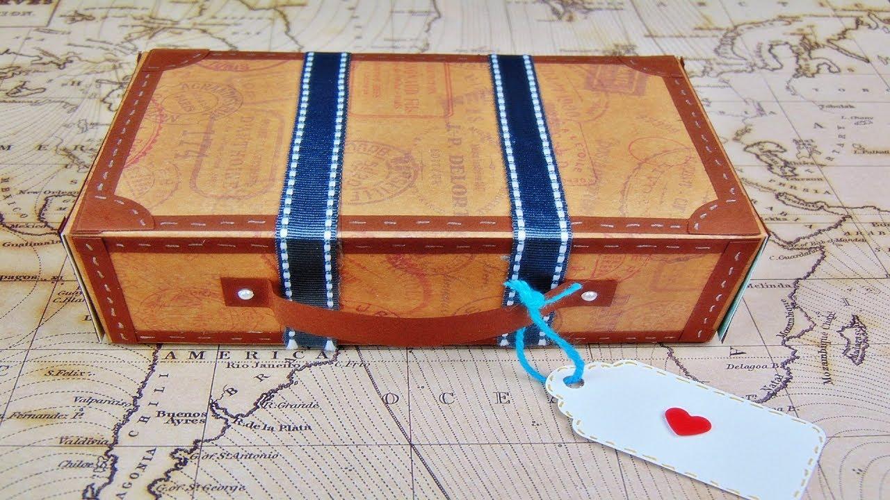 Basteln Koffer Aus Papier Geschenkverpackung Diy Last Minute