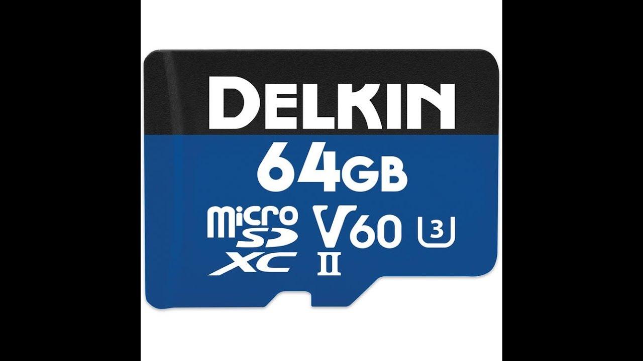 Memory Card Delkin Devices 64GB Prime SDXC UHS-II U3//V60