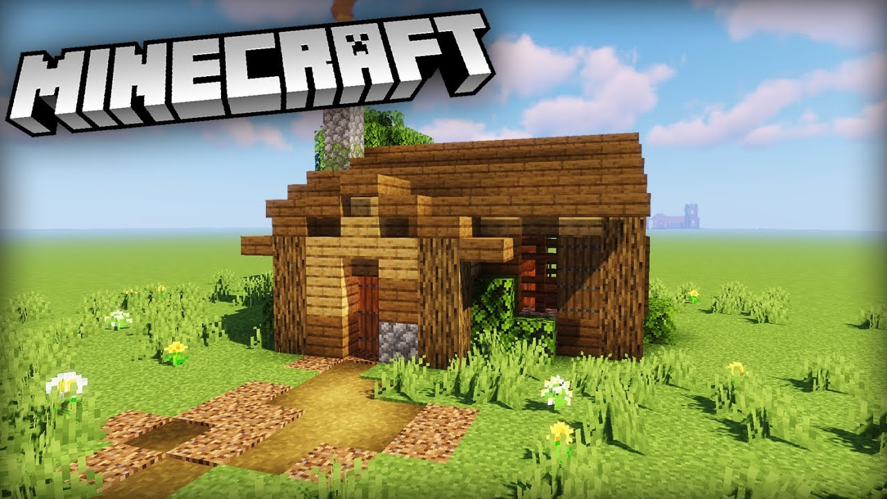 How to build a Simple Plains Starter House  Minecraft Tutorial