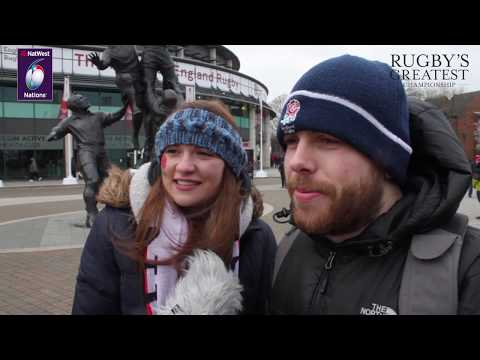 England and Ireland fans after Ireland's Grand Slam on Super Saturday!!   NatWest 6 Nations
