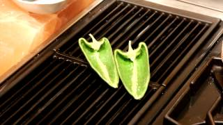 Grilled Poblano Peppers With Goat Cheese & Corn Recipe : Delicious & Elegant Recipes