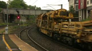 Tyne Yard to Reston Engineers Train through Manors Station Newcastle 2nd August 2016