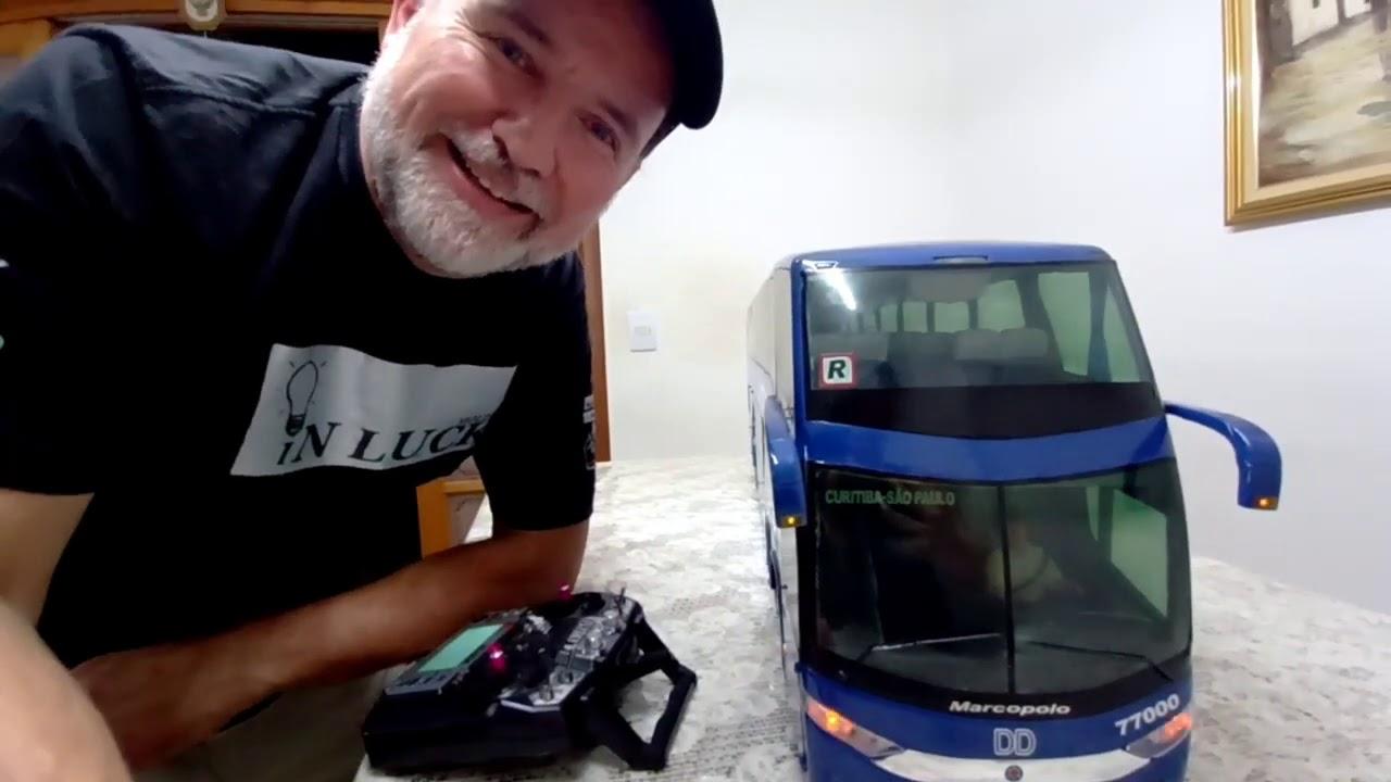Ônibus Cometa DD rádio controle