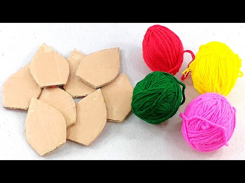 DIY woolen crafts and idea with cardboard | Best craft idea | DIY arts and crafts