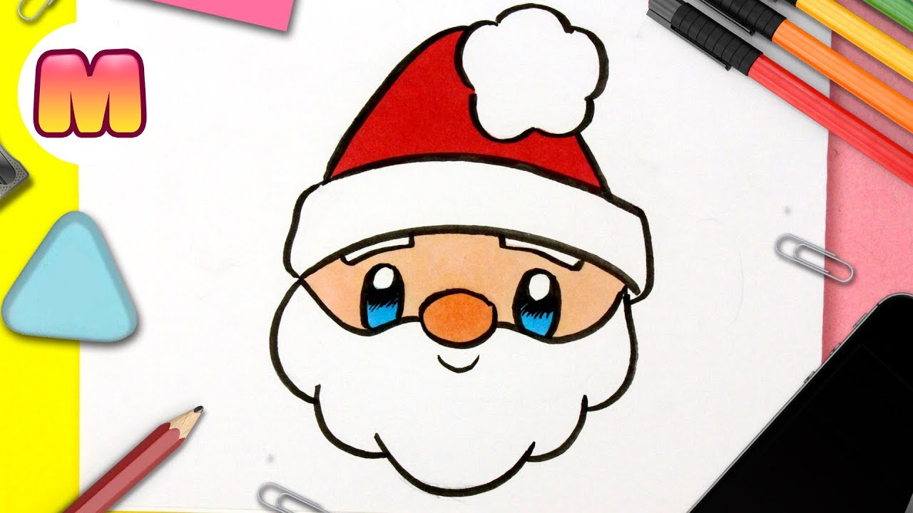 Como Dibujar A Santa Claus Kawaii Dibujos De Navidad Faciles Como Dibujar A Papa Noel Youtube