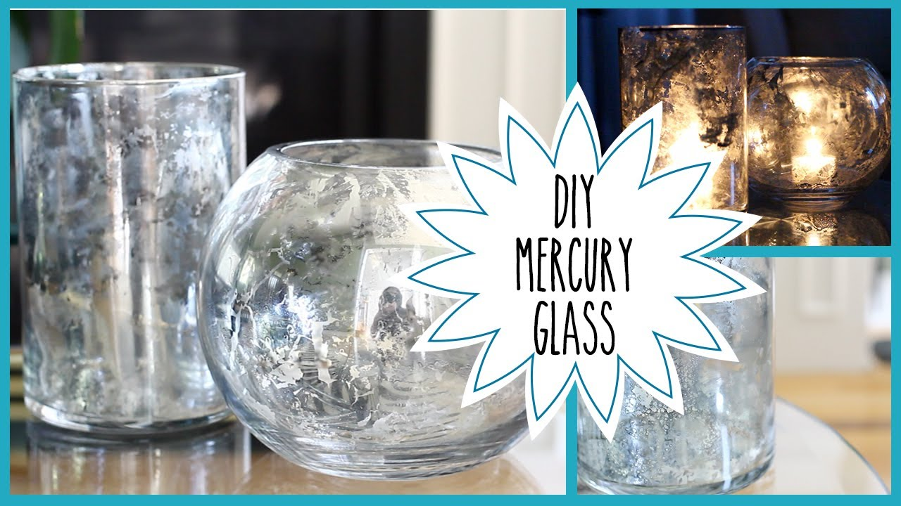 DIY | Faux Mercury Glass (Pottery Barn Inspired) - YouTube