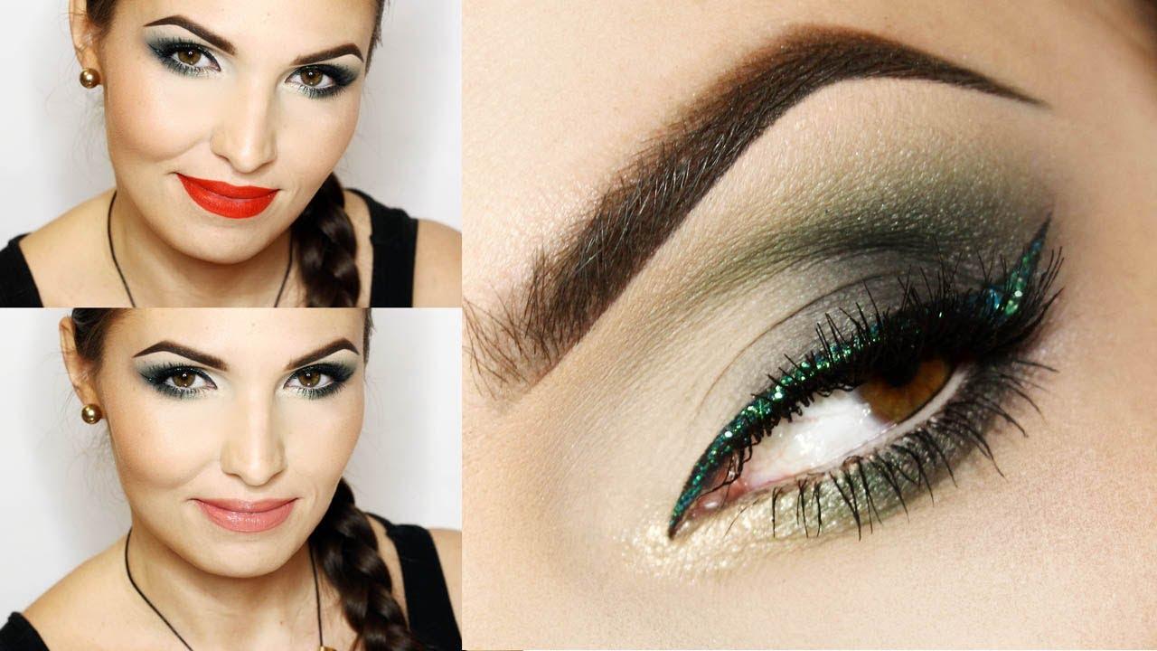 Zielony Makijaż świąteczny 2 Wersje Ostra I łagodna Youtube