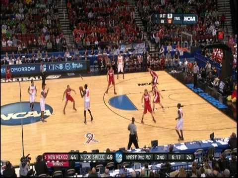 Drew Gordon Reverse Alley Oop Dunk 2012 NCAA Tournament UNM Lobos vs. Louiville Cardinals