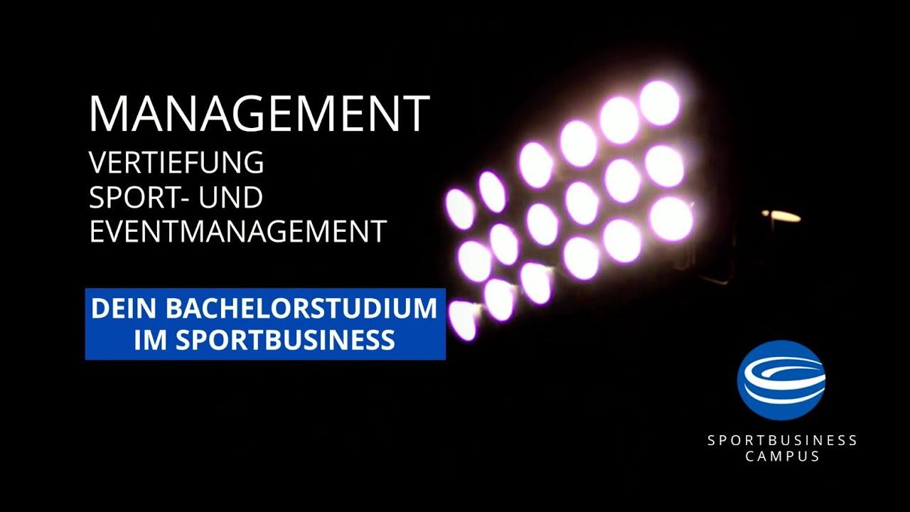 Dein Bachelorstudium: Management (Vertiefung Sport- und Eventmanagement) am Sportbusiness Campus