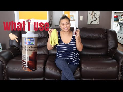 How I Condition And Clean My Leather Couches!