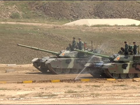 New Home-made Armored Vehicles Put up on Show in Inner Mongolia
