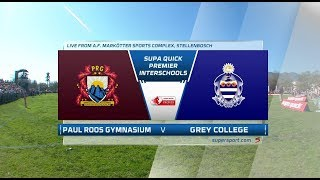 Premier Interschools Rugby | Paul Roos Gymnasium vs Grey College