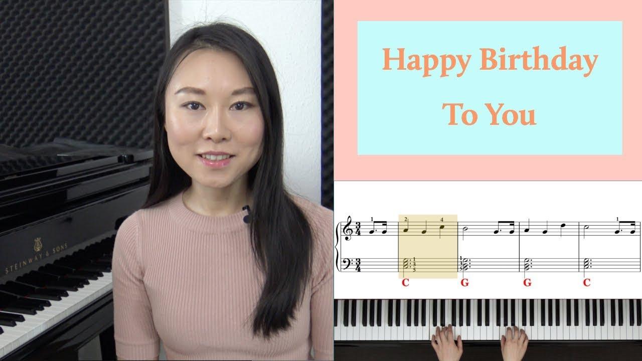 Klavier Tutorial Happy Birthday Auf Dem Klavier Spielen So Geht Es Mit Nur 3 Akkorden Youtube