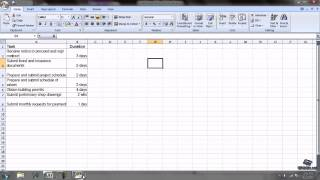 Microsoft Project Tutorial 2.5 Creating A New Project Plan