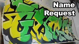 Graffiti Speedart l Speedpaint Name Request George Sticker